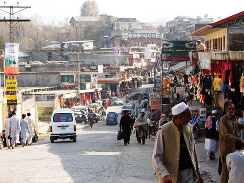 A street view in Rawalakot Azad Kashmir