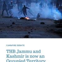 University of Cambridge : Debate on Jammu and Kashmir
