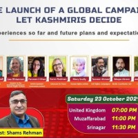 Let Kashmiris Decide- A global coalition Initiative launched